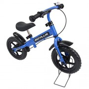 """Goplus 12"""" Kids Balance Bike No-Pedal Learn to Ride Pre Bike Push Walking Bicycle Adjustable Height with Bell Ring and Stand (Blue (with Splasher))"""
