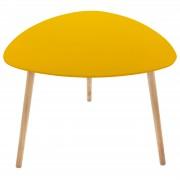 Masuta living design modern culoare galben inaltime 45 cm