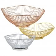 Комплект от 3 броя декоративни купи за плодове, ø 40/30/20 cm, Златист, Бронз, Сребрист