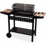 Houtskool barbecue Alfred, met tablets en wielen - zwart