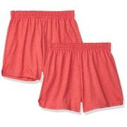 SOFFE Juniors Pantalones Cortos de animación auténticos, Team Red Heather (Paquete de 2), XS