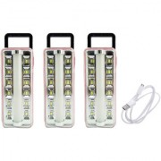 X-EON L7RD OliteRock Rechargeable Emergency Light Portable 10W -Assorted Color ( Pack of 3 )