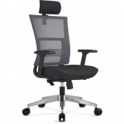 Scaun ergonomic rotativ Next Executive Mecanism Sincron si Brate reglabile, Negru cu Mesh Gri, 131 x 64 cm