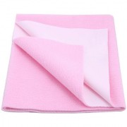 Glassiano Waterproof Baby Bed Protector Dry Sheet (100x70 CM) Medium Size Baby Pink