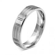 Silvego L´AMOUR snubní ocelový prsten 5mm - RRC0471