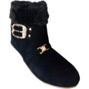 RJ India Black Boot Boots For Women(Black)