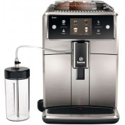 Espressor automat Saeco Xelsis SM7683/00, Ecran tactil cu Coffee Equalizer, Sistem Latteduo, 15 selectii , 6 profiluri, Rasnita ceramica cu 12 trepte, AquaClean (Negru/Inox)
