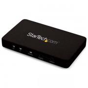 StarTech.com - Switch Selector Automático HDMI de 2 Puertos con Chasís de Aluminio y MHL - Conmutador 4K 30Hz