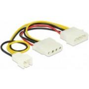 Kabel DELOCK, 4-pin MOLEX (M) na 4-pin MOLEX (Ž) na 3-pin (M), za ventilator, cpu hladnjak, 14cm