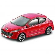 Bburago Speelgoed auto Peugeot 207 rood 1:43