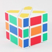 SHABAB STORES Fisher Cube White 3x3x3 Shape Mod Twisty Puzzle Toy 3x3