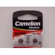 Camelion AG2, baterie ceas 1.5V alcalina, LR726, LR59, 196, SR726W, GP96A, 396 blister 10