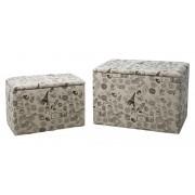 Set 2 cutii depozitare (cm) 59X39X41- 48X28X33