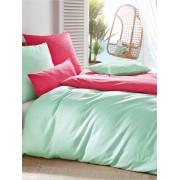 Janine Soft-seersucker-overtrekset, ca. 155x200cm Janine roze