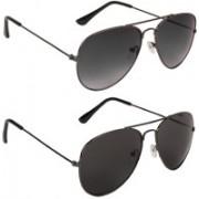 Voyage Aviator Sunglasses(Black, Violet, Black)