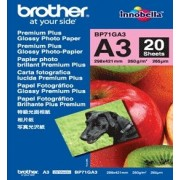 Hartie foto Brother BP71GA3, 20 bucati glossy A3