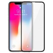 Folie Protectie Sticla Securizata Zmeurino Full Body 3D Curved, fata/spate, pentru Apple iPhone X (Alb/Transparent)