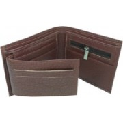 HALO NATION Men Brown Artificial Leather Wallet(6 Card Slots)