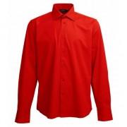 Lemon & Soda Casual overhemd rood lange mouw