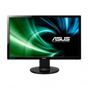 "Asustek ASUS VG248QE - 3D monitor LED - 24"" (24"" visível) - 1920 x 1080 Full HD (1080p) - TN - 350 cd/m² - 1 ms - HDMI, DVI-D, DisplayP"