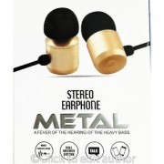 HEADPHONE/EARPHONE Heavy BASS Musix Madness Metal Stereo earphone with MIC EZ236 - GOLD