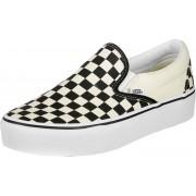Vans Classic Slip-On Platform Schuhe weiß schwarz kariert Gr. 36,0