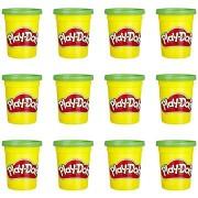 Play-Doh készlet 12 db zöld tégely