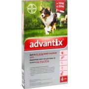 BDV Advantix spot on 2,5ml10-25kg között kutya auv - 4x