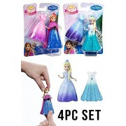 Mattel Disney Frozen Magiclip Anna and Elsa 4pcs Doll Set