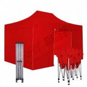 ray bot Gazebo pieghevole 3x4,5 rosso Exa 45mm TOP alluminio con laterali. Gazebo rapido e automatico.