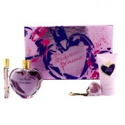Princess Coffret: Eau De Toilette Spray 100ml/3.4oz + Satiny Body Lotion 75ml/2.5oz + Lip Gloss Keychain 2g/0.07oz + Eau De Toilette Rollerball 10ml/0.33oz 4pcs Princess Комплект: Тоалетна Вода Спрей 100мл + Нежен Лосион за Тяло 75мл + Гланц за Устни Клțч