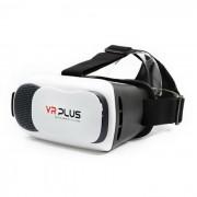 VR plus gafas de realidad virtual 3D - blanco + negro