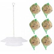 Shoppartners Tuindecoratie vogelvoer hanger met 6 vetbollen