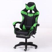 RACING PRO X Scaun gamer cu suport pentru picioare, verde-negru Transport gratuit-Sunteți online? Gata cu durerile de spate .