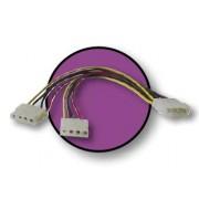 Cable de alimentación fuente (Molex) 2 x 5 1/4