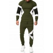 OneRedox Jogging Suit Sport Set Tracksuit Pants & Sweater Khaki 1215C 52009-2