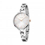 Calvin Klein - Solo tempo Graphic con cinturino in acciaio e quadrante silver - K7E23B46
