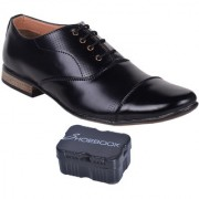 Shoebook Men Smart Formal Black Shoes