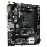 Дънна платка ASRock X370M-HDV, X370, AM4, DDR4, PCI-E, (HDMI&DVI&VGA), 4x SATA 6Gb/s, 1x M.2 socket, 4x USB 3.1 Gen1, Micro ATX, X370M-HDV