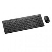 Canyon CNS-HSETW4-BG, безжични клавиатура и мишка, нископрофилни клавиши, мултимедийни бутони, оптична(1600 dpi), USB, черни