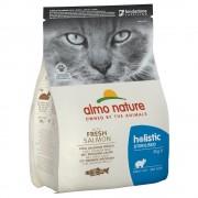 2кг Holistic Sterilised Almo Nature, суха храна за котки със сьомга и ориз