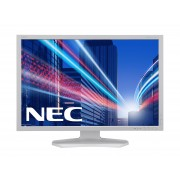 NEC MultiSync PA242W-SV2 white PA242W 24' LCD monitor with GB-R LED backlight, IPS panel, AdobeRGB, resolution 1920x1200, VGA, DVI, DisplayPort, 150 mm height adjustable, SpectraView II Software inclu