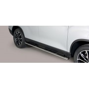 TUBES MARCHE PIEDS OVALE INOX SSANGYONG REXTON 2018- - accessoires 4x4 MISUTONIDA