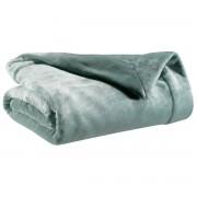 Miliboo Plaid en polyester bleu grisé 150 x 200 cm FERO