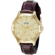 Casio Analog Gold Dial Mens Watch-Mtp-V300Gl-9Audf