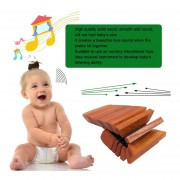 Eb Rectángulo Instrumento Musical De Madera Maciza Sonido Agradable Juega Juguetes 17 Placas
