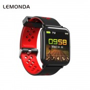 LEMONDA D6 Smart Bracelet 1.3-inch Color Screen Waterproof Heart Rate Monitor Bracelet for Android iOS - Red