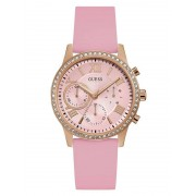 Guess Horloge Silicone Strass - Roze - Size: T/U