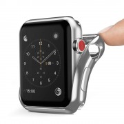 DUX DUCIS Gel telefontok hátlap tok TPU Cover Apple Watch sorozat 2/3 38 mm ezüst