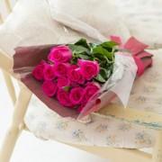 産地直送バラ花束(12本)ピンク系